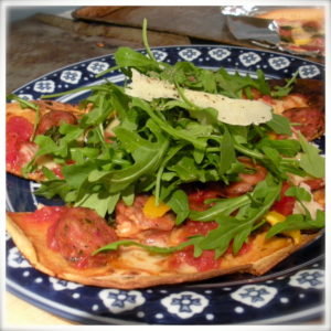 Flat-out flat bread pizzas are yummy and healthy!