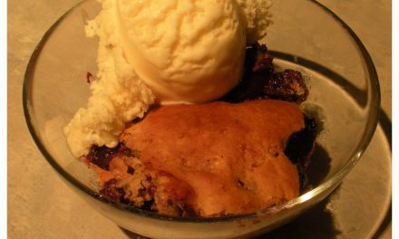 Grilled Rum Berry Cobbler