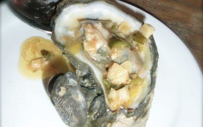 Grilled Oysters with Jalapeno Butter Sauce