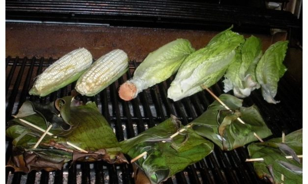 Citrus Chili Whitefish Grilled in Banana Leaves
