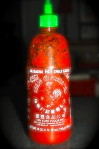 Sriracha - a fiery Asian pleasure on anything you put it on!