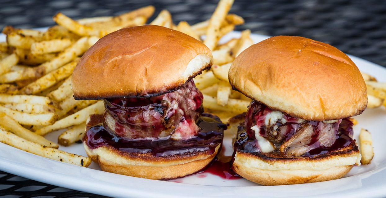 grill girl, sirloin sliders, mini burgers