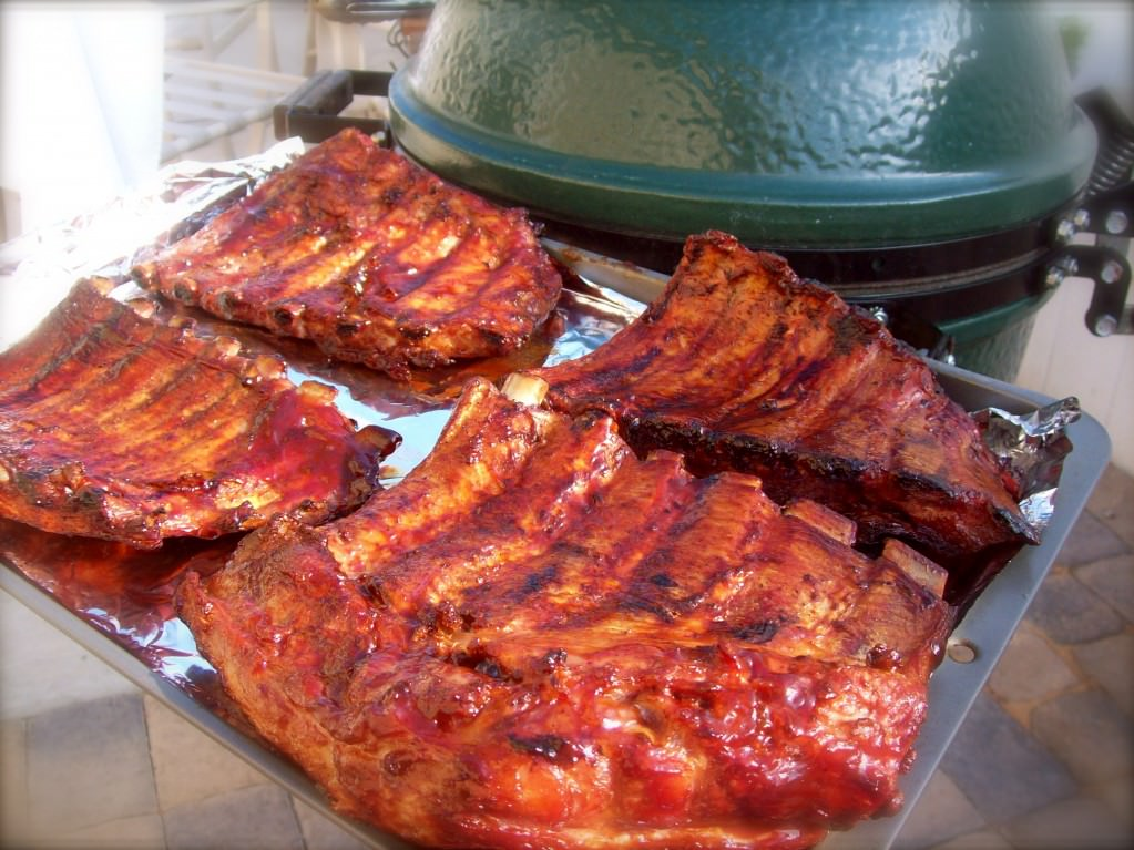 Pork Ribs on the Green Egg- true perfection!!