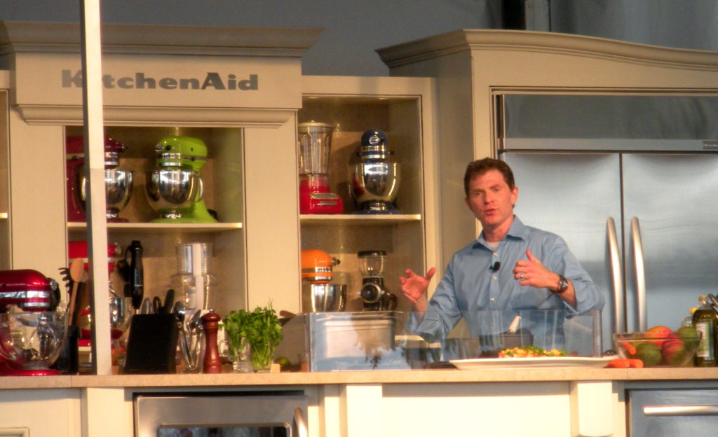 Bobby Flay doing a demonstration during the South Beach Wine and Food Festival 2010.