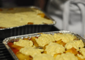 Mango Cobbler on the grill...