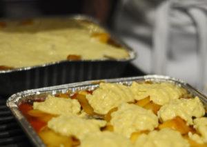 Mango Cobbler, Cobbler on the grill, grilled cobbler
