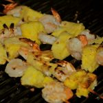 grill girl, coconut shrimp skewers
