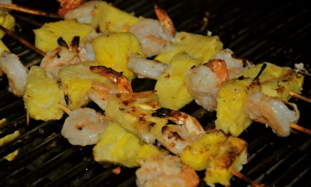 Grilled Coconut Shrimp Skewers