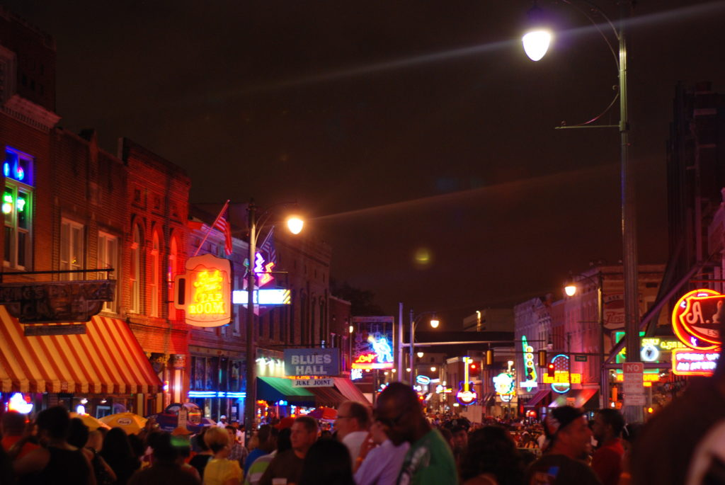 Beale Street at Night.