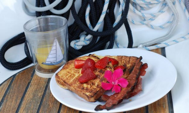 Host an Outdoor Mother's Day Brunch with Grilled Coconut Rum French Toast and Grilled Cocktails