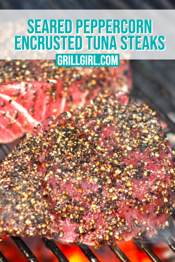 Seared Peppercorn Tuna Steaks