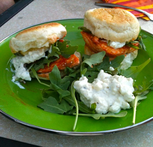 Quick and Easy: Grilled Buffalo Chicken Sliders