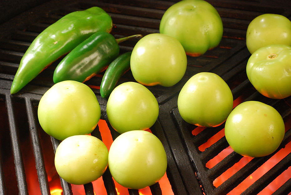 Grilling is not just for meat anymore- check out those beautiful peppers!
