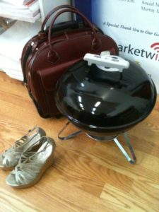"""I even did a short lived """"grill at the office"""" series in the early stage of this blog... where did those shoes go?"""