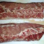 Pork loin, halved...