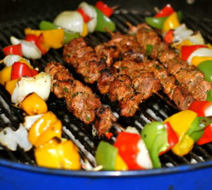 Applewood Pork Skewers- YUM!