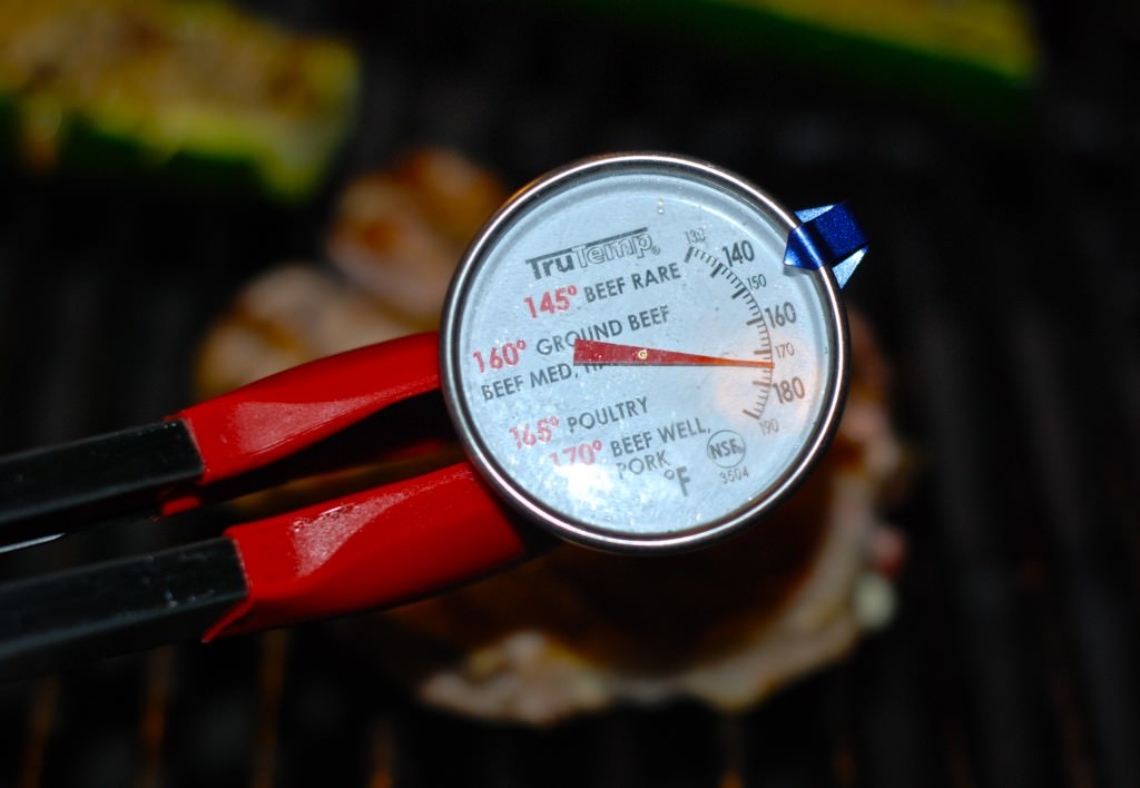 Using a meat thermometer takes the guess work out of figuring out if your meat is ready or not!