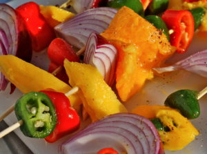 Grilled fruit and veggies kicks up salsa a few notches!