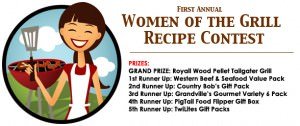 Woman Grilling Contest
