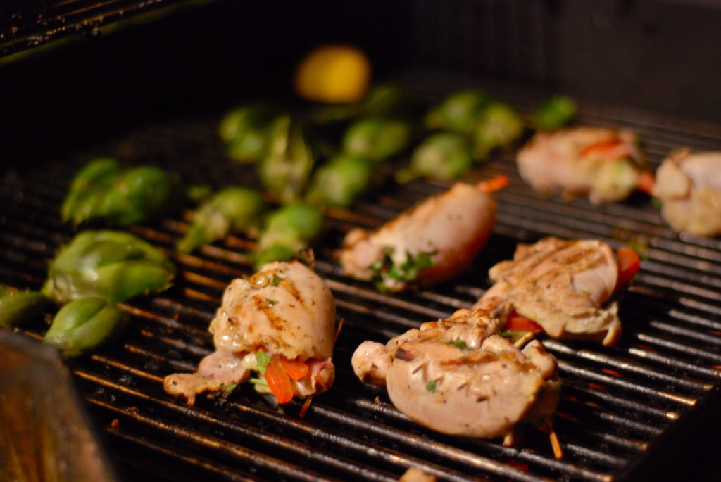 Grilled Mojo Criolla Chicken, Stuffed Chicken Thighs