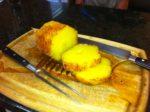 grillgirl, rum soaked pineapple, cinnamon sugar glaze, rotisserie dessert