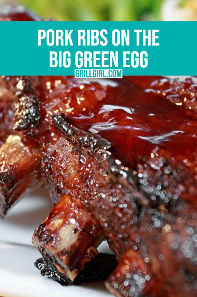 pork ribs on the big green egg