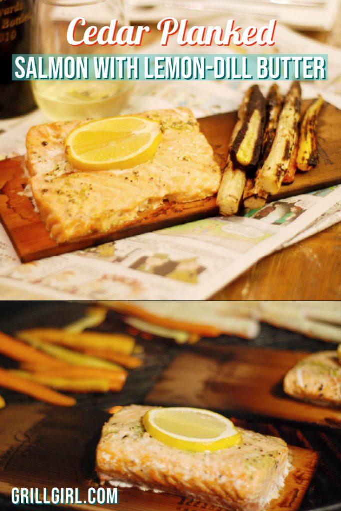 Salmon Cedar Planked Grilled Salmon
