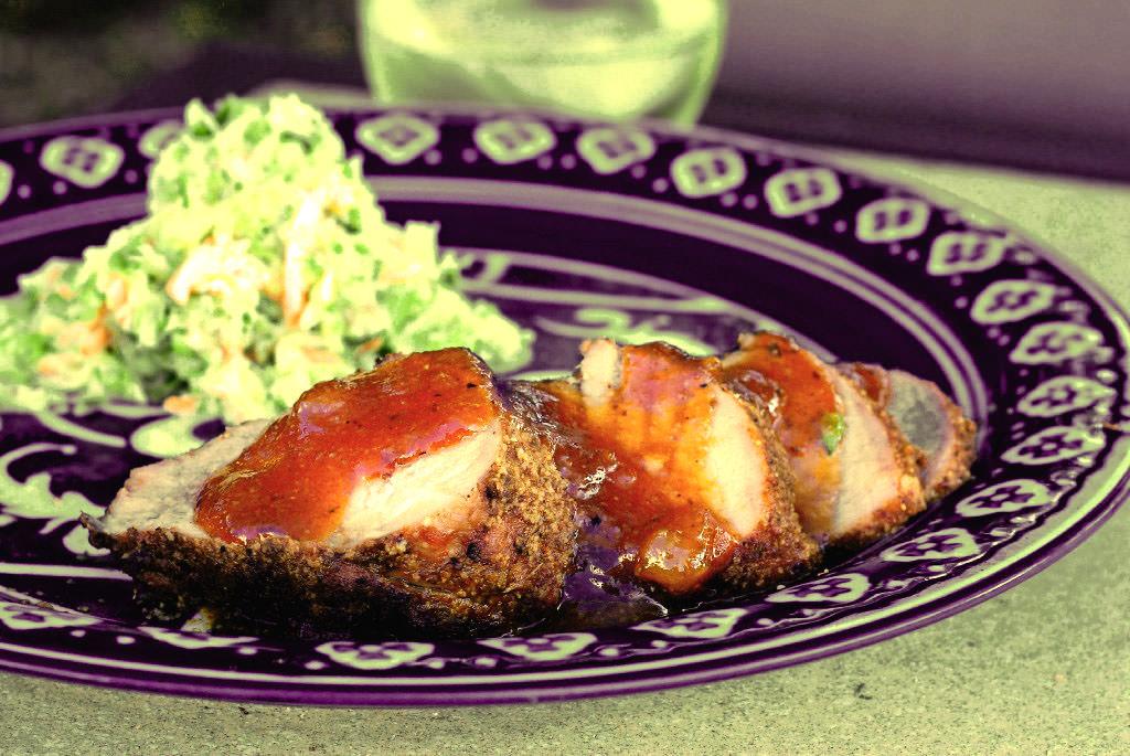 Apricot-Glazed Pork Tenderloin Recipe — Dishmaps