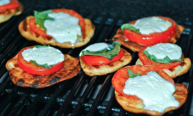 Grilled Mini Caprese Pizzas