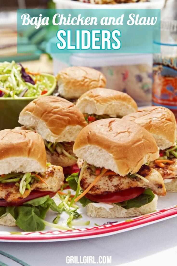Baja Chicken and Slaw Sliders