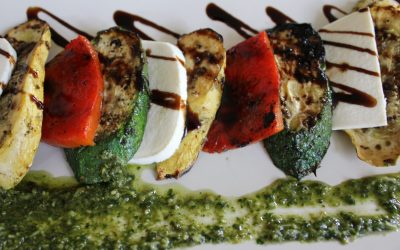 Grilled Yellow Squash & Zucchini Caprese Salad