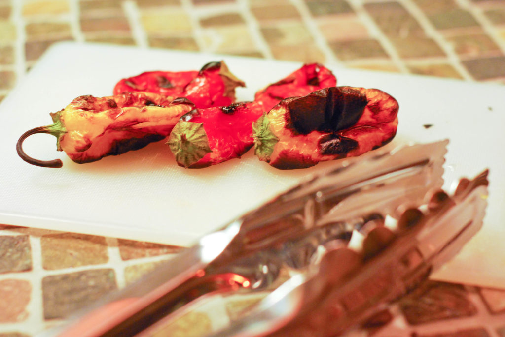 Grilled peppers, Robyn Lindars, Grill Girl, Grilled mini peppers