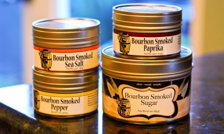 Bourbon Barrel Smoked Sea Salt, Peppercorn, Paprika and Sugar BBQ Rub