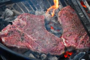 caveman style grilled steak