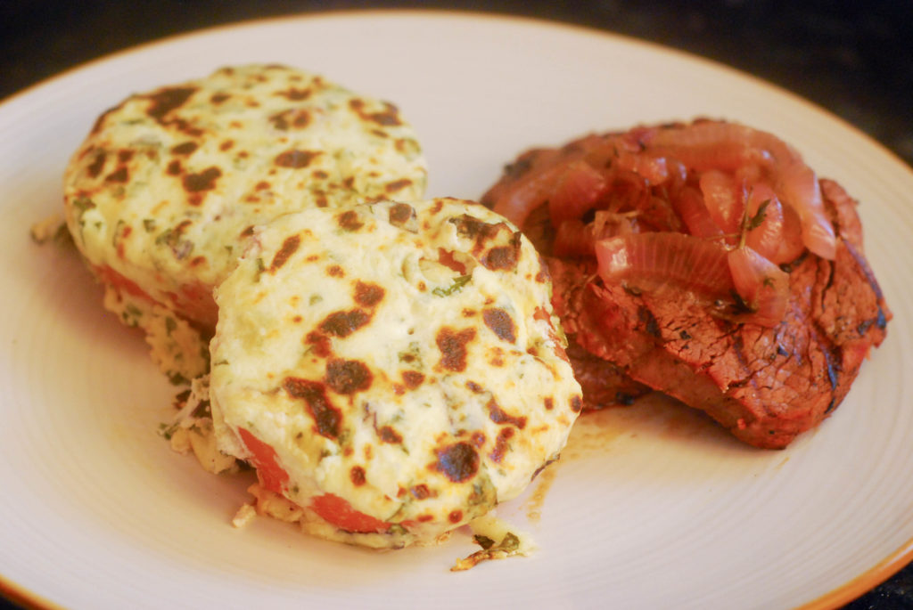 grillgirl, how to grill chateaubriand, baked stuffed tomatoes