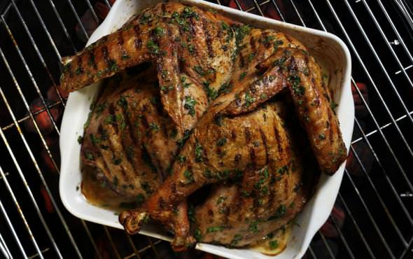 Chris Lilly's Charcoal Grilled Turkey with Fresh Herb Butter