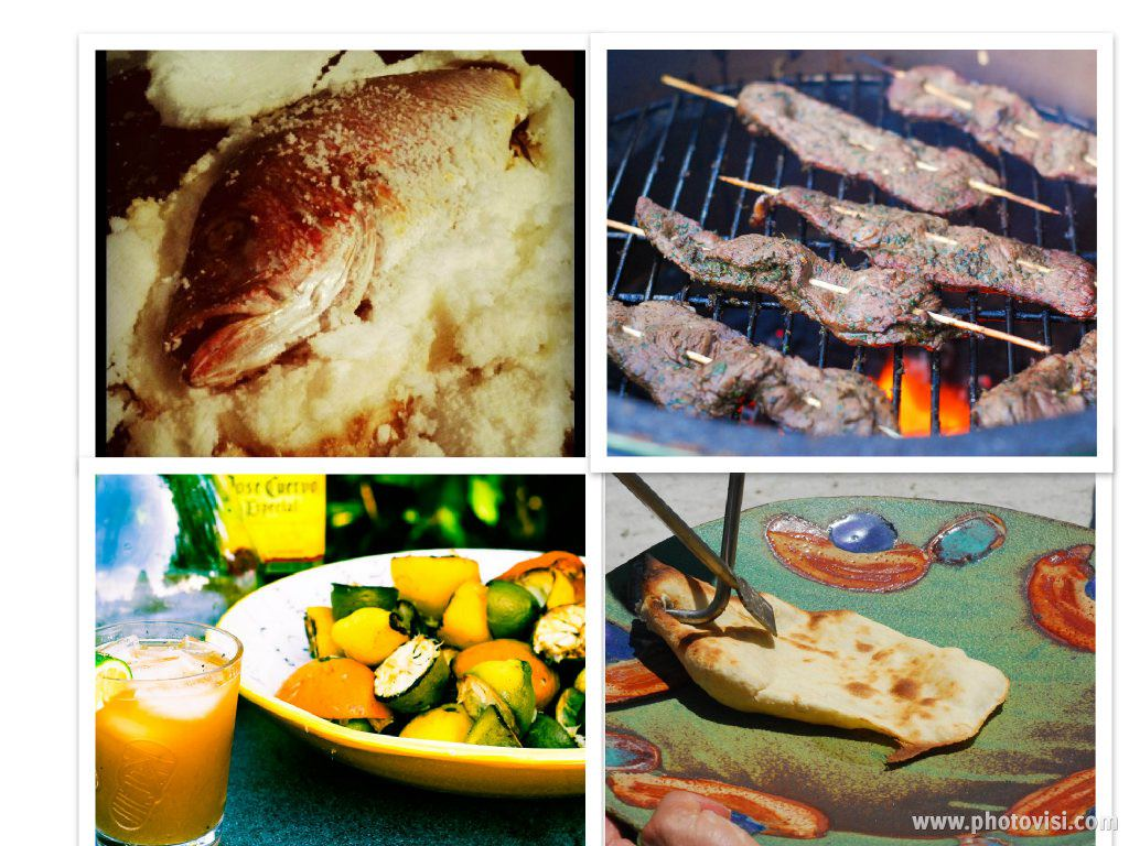 grilled naan, make naan on a tandoori grill, salt encrusted fish, grilled cocktails, beef satay