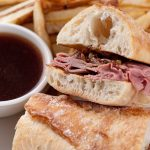 grill gril, prime rib sandwiches, french dip
