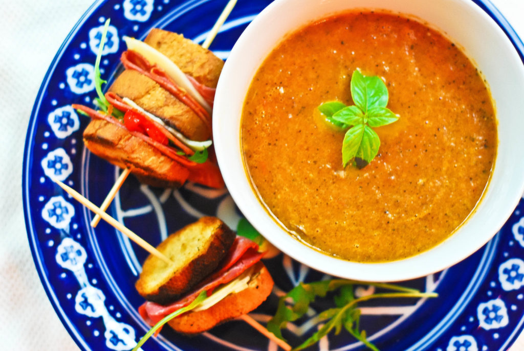 tomato soup on the grill, fire roasted tomato, soup on the grill, charred tomato soup, smoky tomato soup