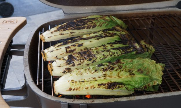 Grilled Romaine Hearts (Grilled Romaine Salad)