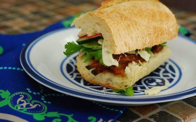BBQ Pulled Pork Bahn Mi Sandwich
