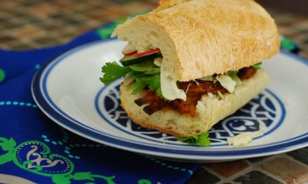 BBQ Pulled Pork Bahn Mi Sandwich