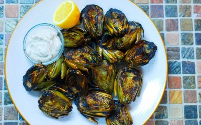 Grilled Baby Artichokes with Chefs Dressing