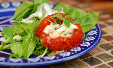 Grilled Blue Cheese and Herb Stuffed Tomatoes
