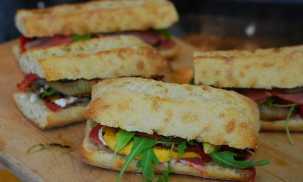 Capicola Ham, Goat Cheese and Grilled Vegetable Summer Sandwiches