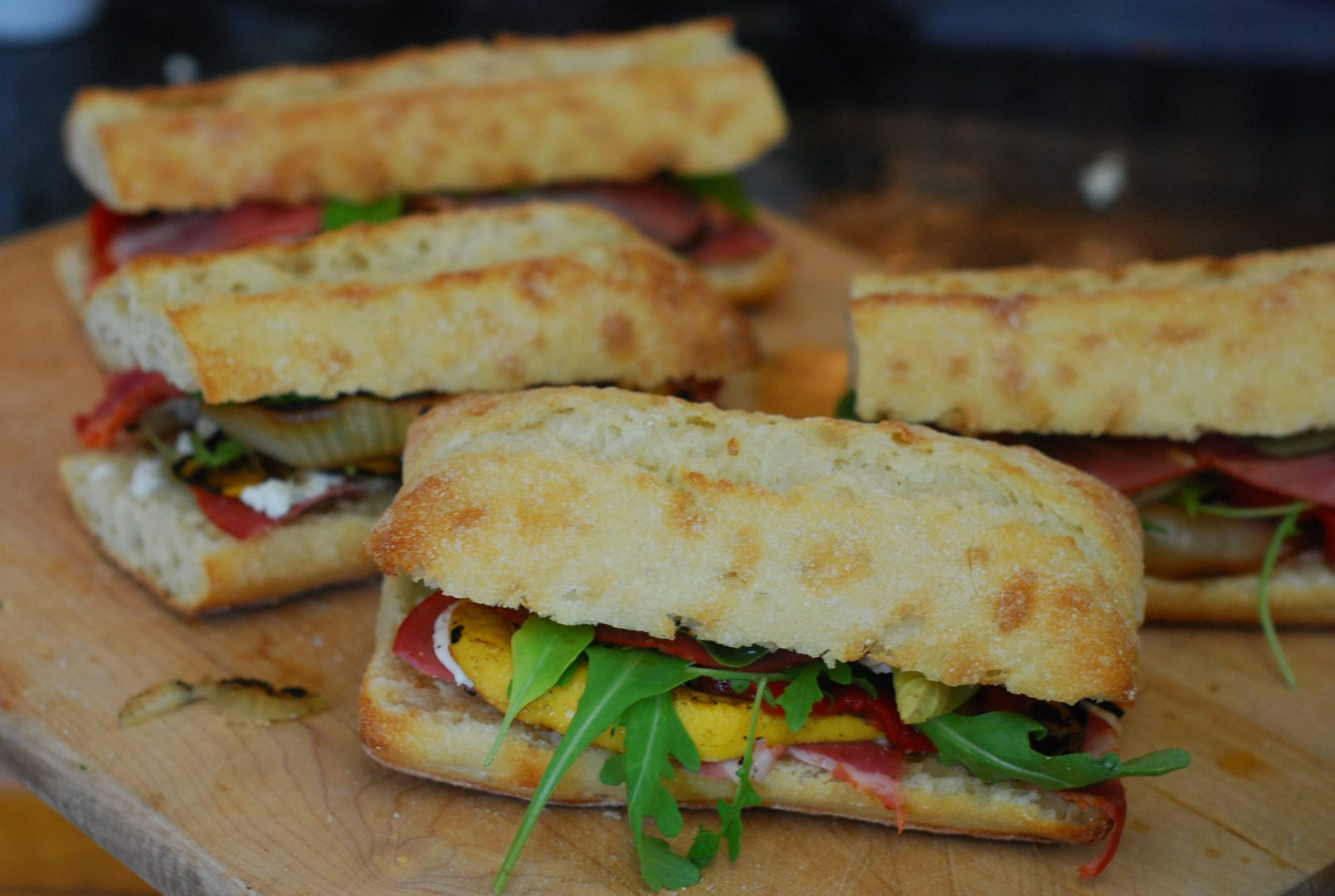 Capicola Ham Goat Cheese And Grilled Vegetable Summer