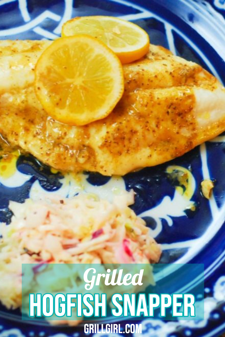 Grilled Hogfish Snapper