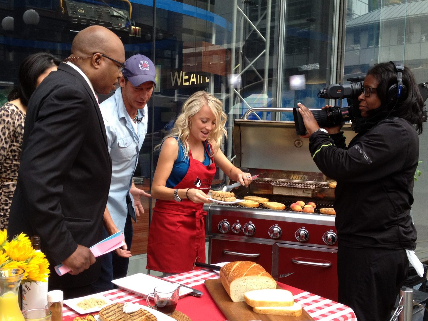 Grilling Is Happiness Ty Pennington George Hirsch Perry Perkins And I Grill Up Some Fun At Ribfest Grillgirl