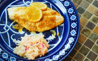 Grilled Hogfish Snapper with Old Bay Compound Butter