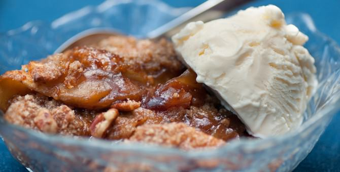 Hickory Bourbon Apple Cobbler and a Stubb's Sauce Giveaway